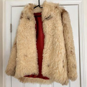 Vintage Authentic 1970's Mongolian Fur Coat